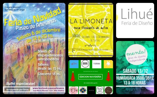Ferias de diciembre en Buenos Aires: La Limoneta, Lihué, Menta, Paseo de los Artesanos, Showroom del Botánico   www.curvaslibres.blogspot.com