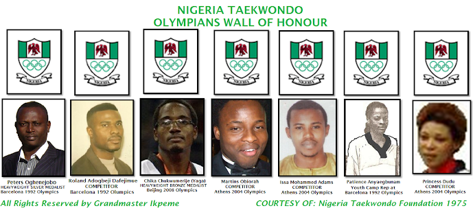 NIGERIA OLYMPIC COMMITTEE TAEKWONDO OLYMPIANS & CHAMPIONS WALL OF HONOUR