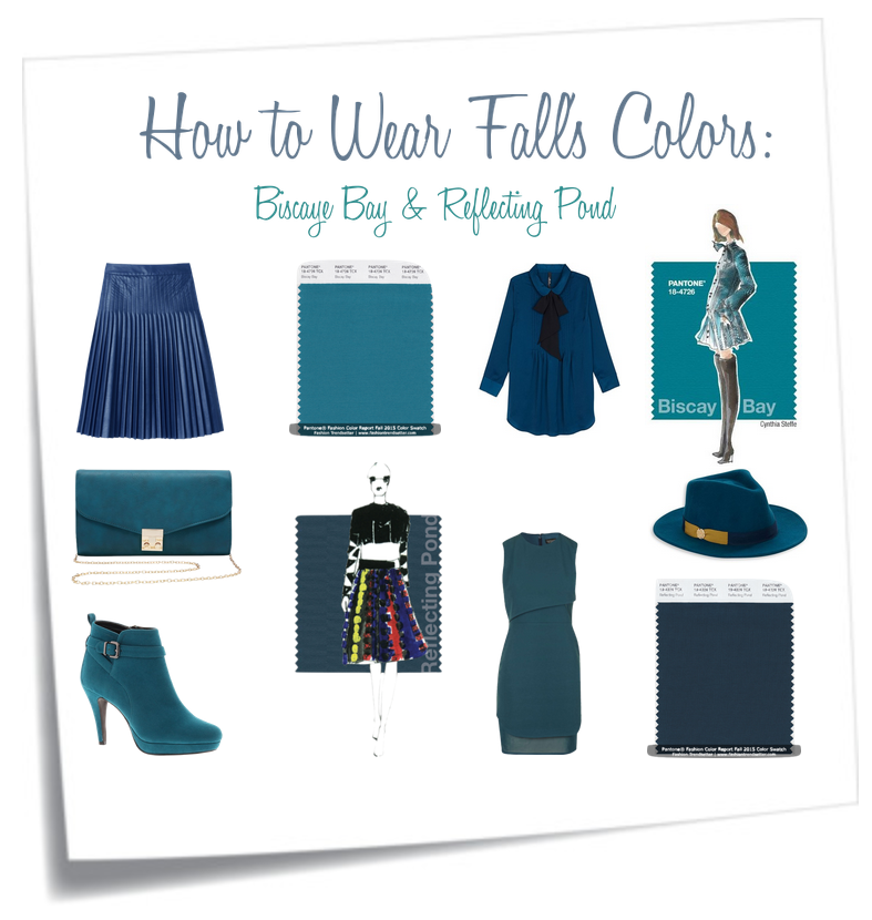 How to Wear Pantone's Fall Colors: Teal Biscaye Bay & Reflecting Pond