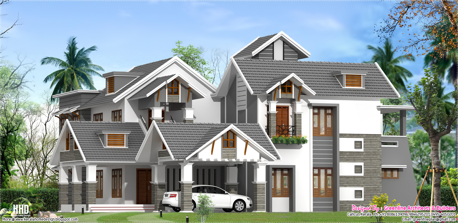 A Unique Luxury Villa Elevation Design Kerala Home