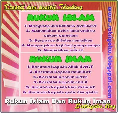 Rukun Islam Dan Rukun Iman