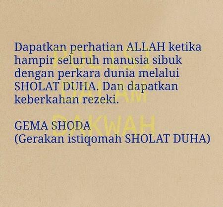 Shalat Dhuha dan Faedahnya