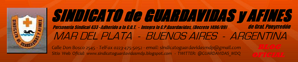 SINDICATO de GUARDAVIDAS y AFINES de G.Pueyrredón - MAR DEL PLATA