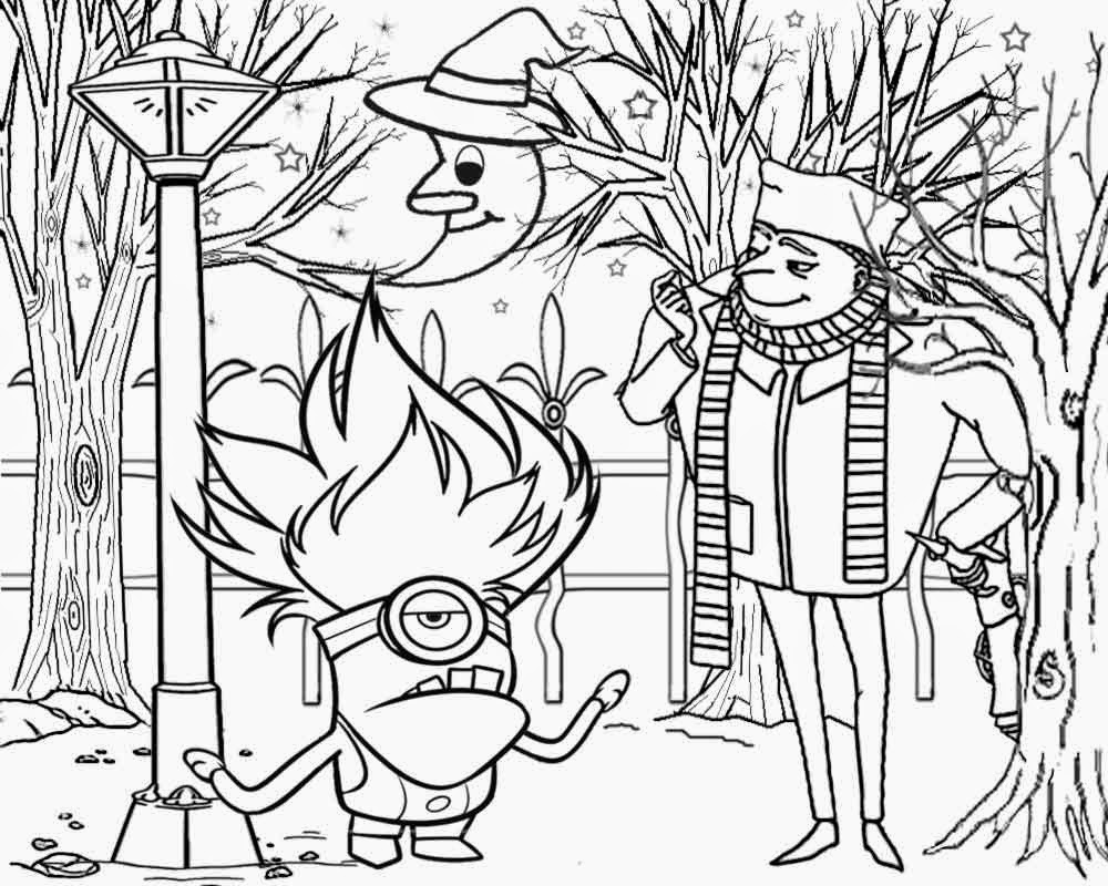 Free Evil Minions Coloring Pages