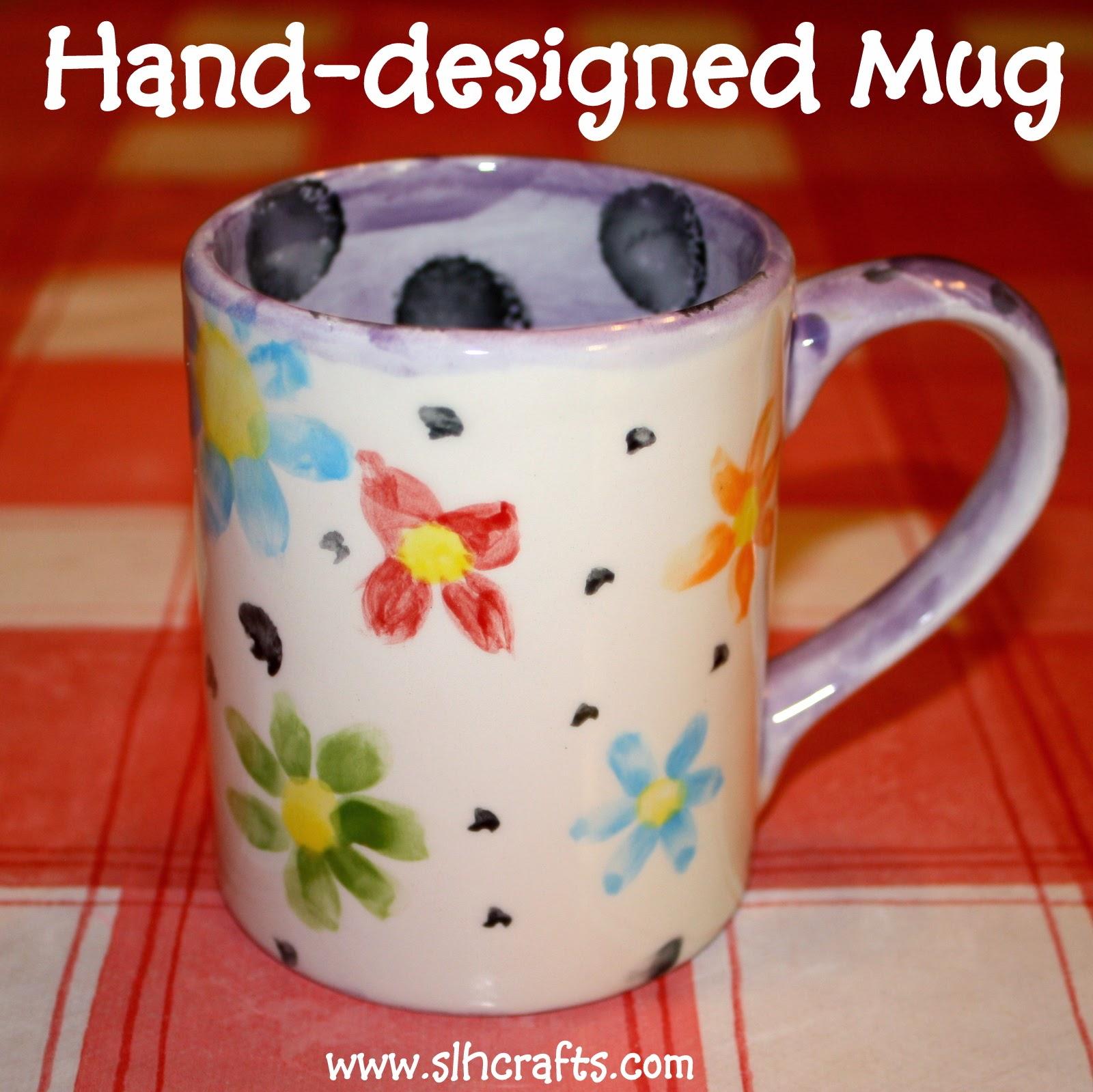 Mug cup painting designing