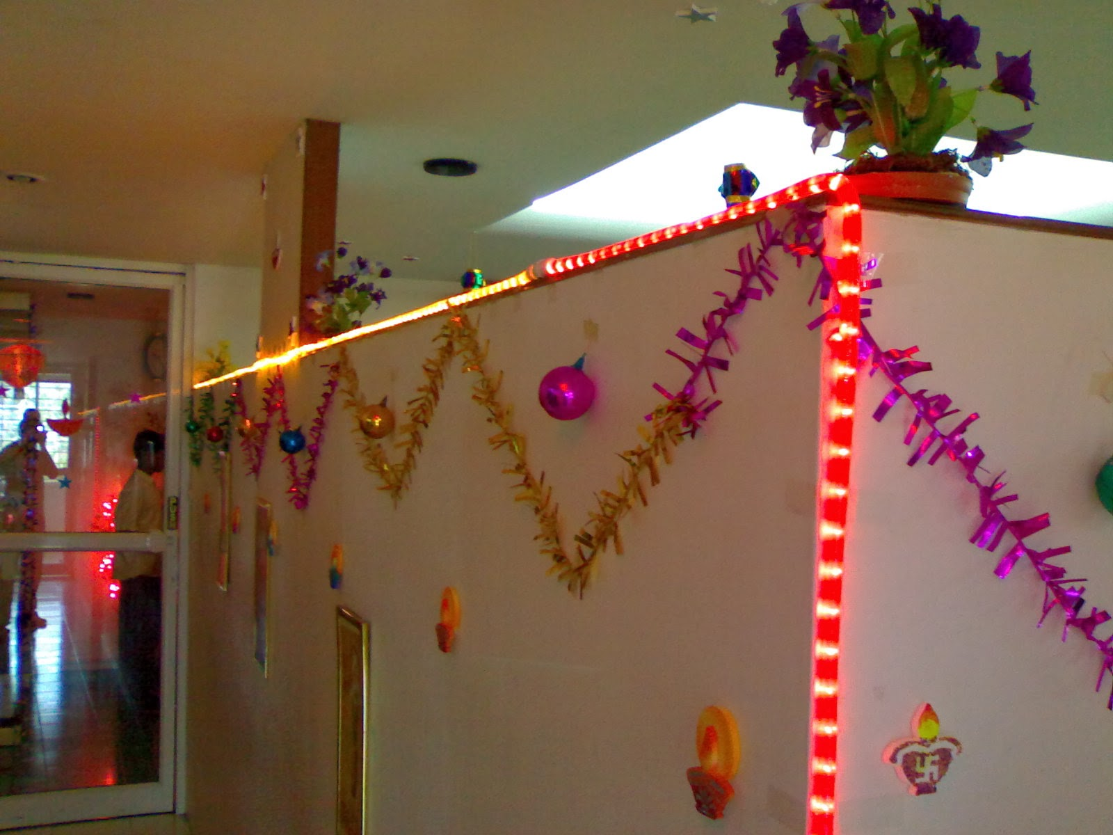 Diwali 2013 decoration ideas for home office diwali for How to make diwali decorations at home
