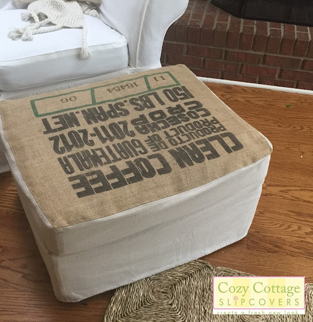 Cozy Cottage Slipcovers A Coffee Sack And Classic White