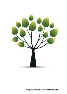 Arbol con hojas verdes