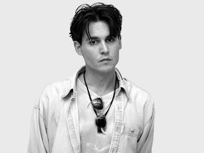 Johnny Depp Black White Wallpapers