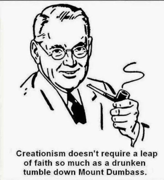Creationism Leap of Faith Quote - Creationism doesn't required a leap of faith