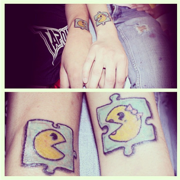 cute matching tattoos for him and her pictures