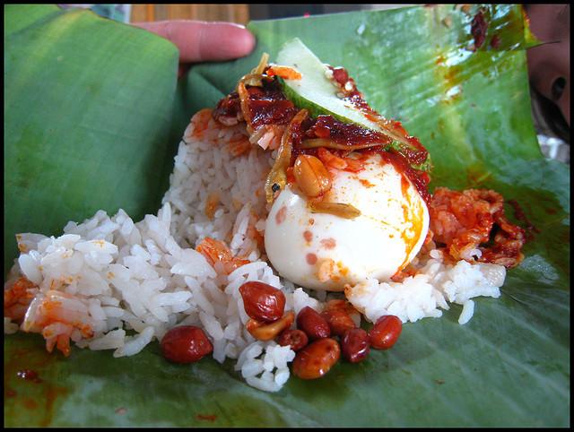 Nasi Lemak Malaysian Dish