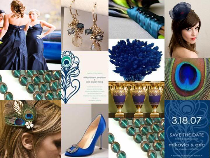 Matrimonio Tema Pavone : Matrimonio in corso inspiration boards verde e blu pavone
