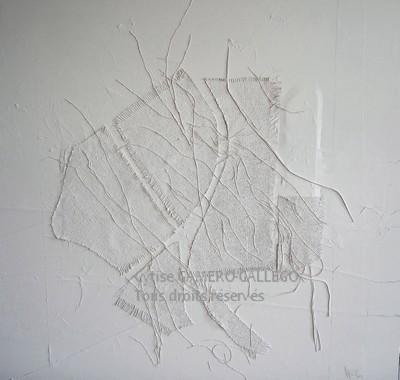 BLANC 2 - Sur toile 90x100 cm 36x40 inc