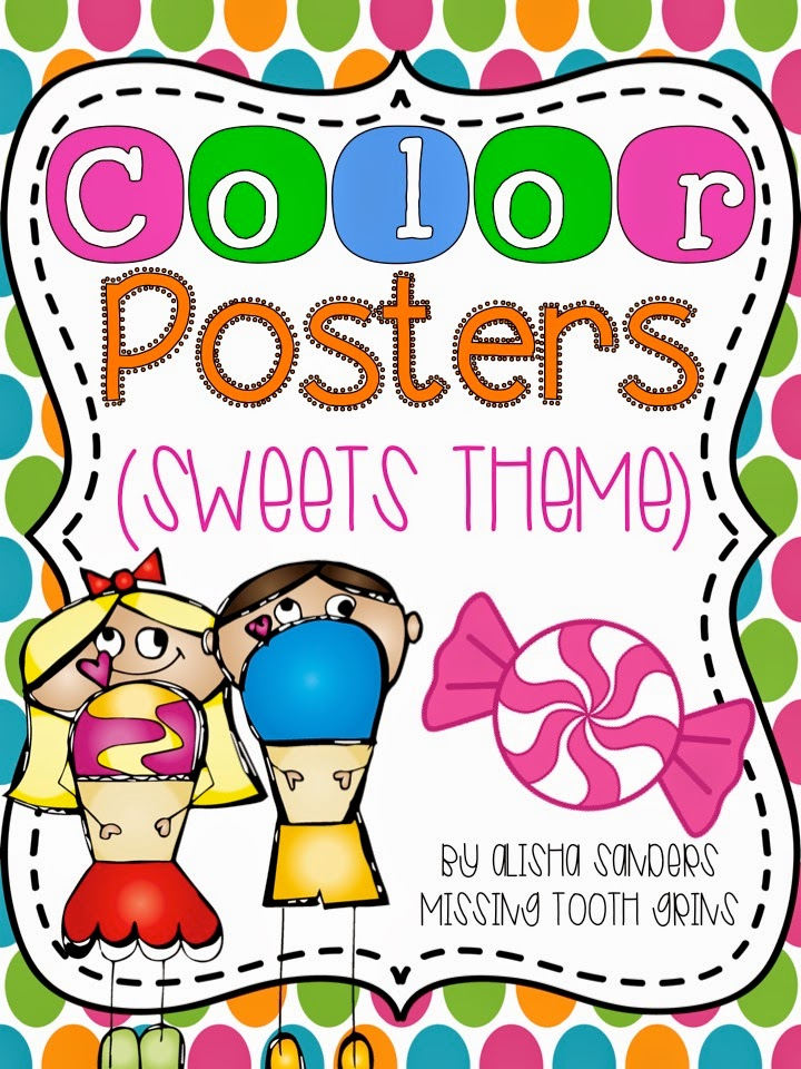 http://www.teacherspayteachers.com/Product/Color-Posters-Sweets-Theme-1277692