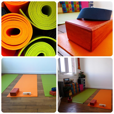 équipement yoga tapis bloc sangle