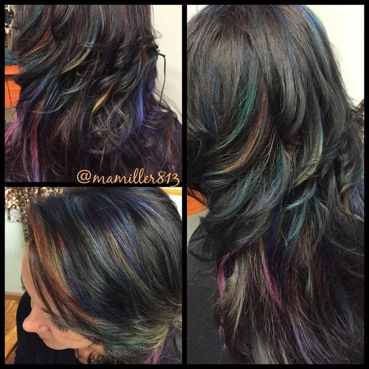 Who Said That Brunettes Cant Have Colorful Hair Oil