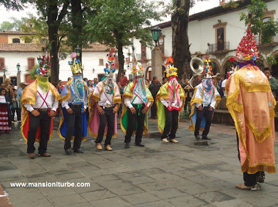 The Moors of Tejaro dancing at Patzcuaro Main Square