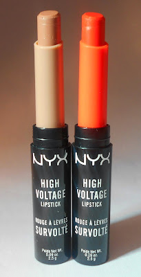 NYX High Voltage Lipsticks in Stone & Free Spirit