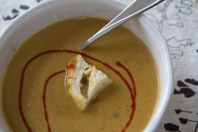 Pumpkin Carrot Lentil Soup