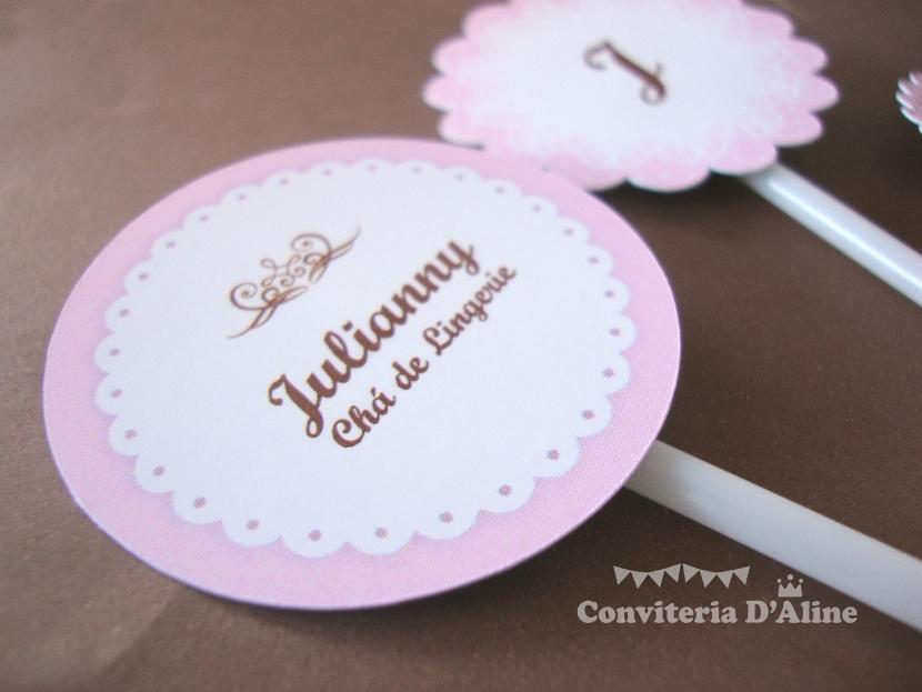 topper personalizado cupcake cha de lingerie