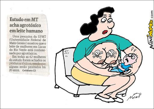 Estudo em Mato Grosso acha agrotóxico em leite humano