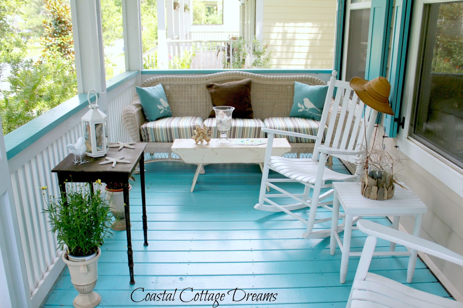 Coastal cottage dreams blog and front porch starfish cottage Cottage floor
