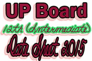 UP Board 12th Date Sheet 2016