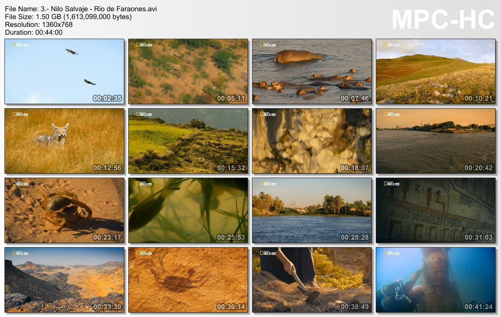 4GB|NATGEO HD|Nilo Salvaje|3-3|HD 720p|Mega|