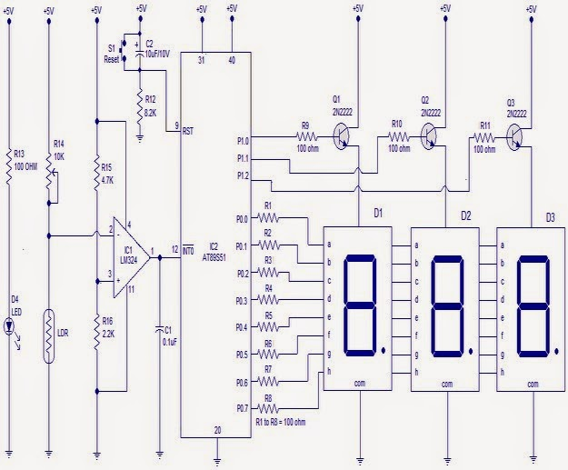 Electronic Circuit Projects: Tachometer using Arduino