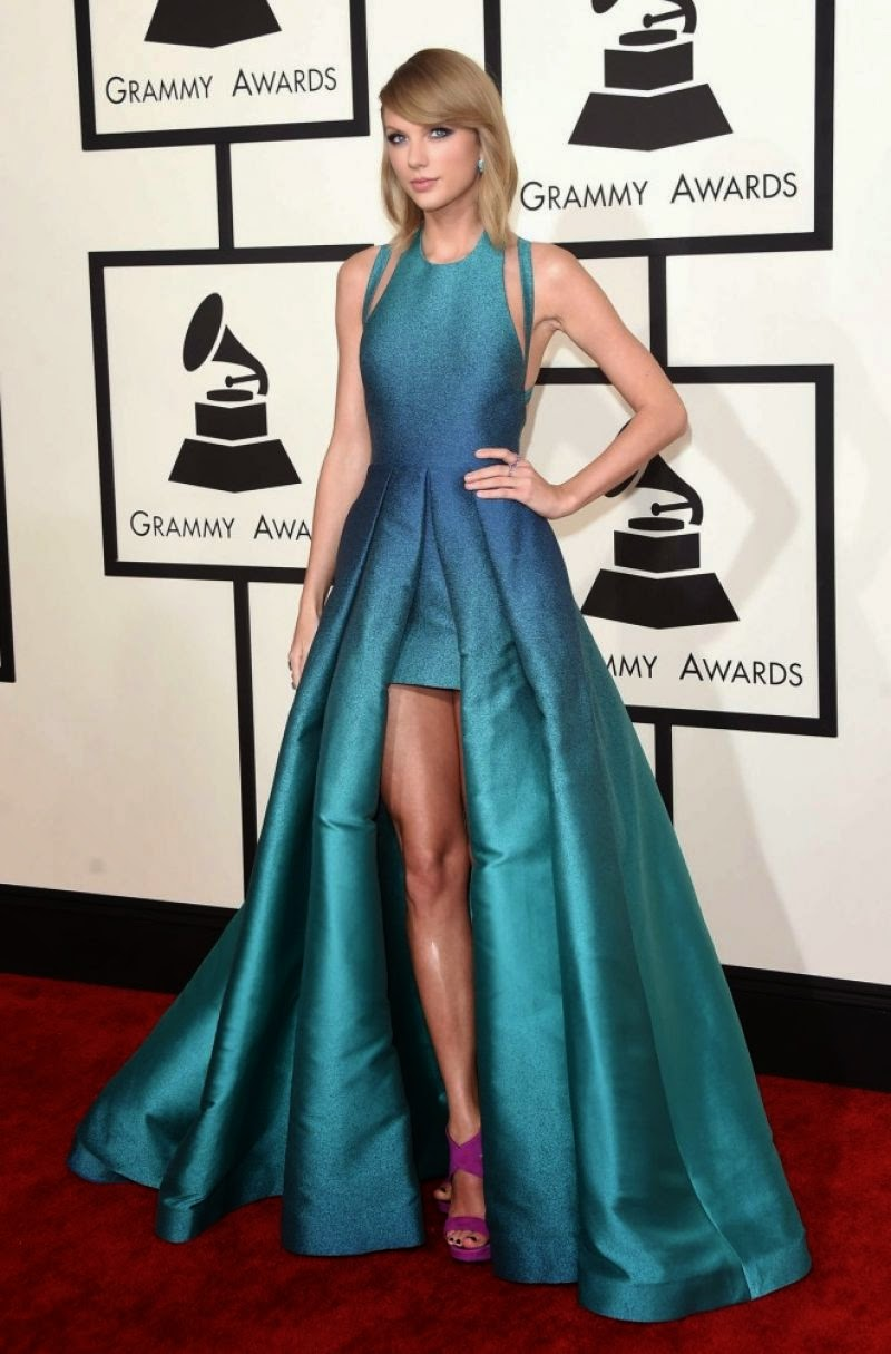 Taylor Swift 2015 Grammy Awards Red Carpet Dress Red Carpet