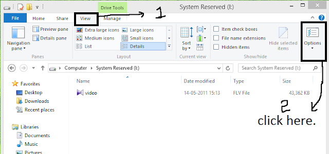 changing the file extension in windows 8