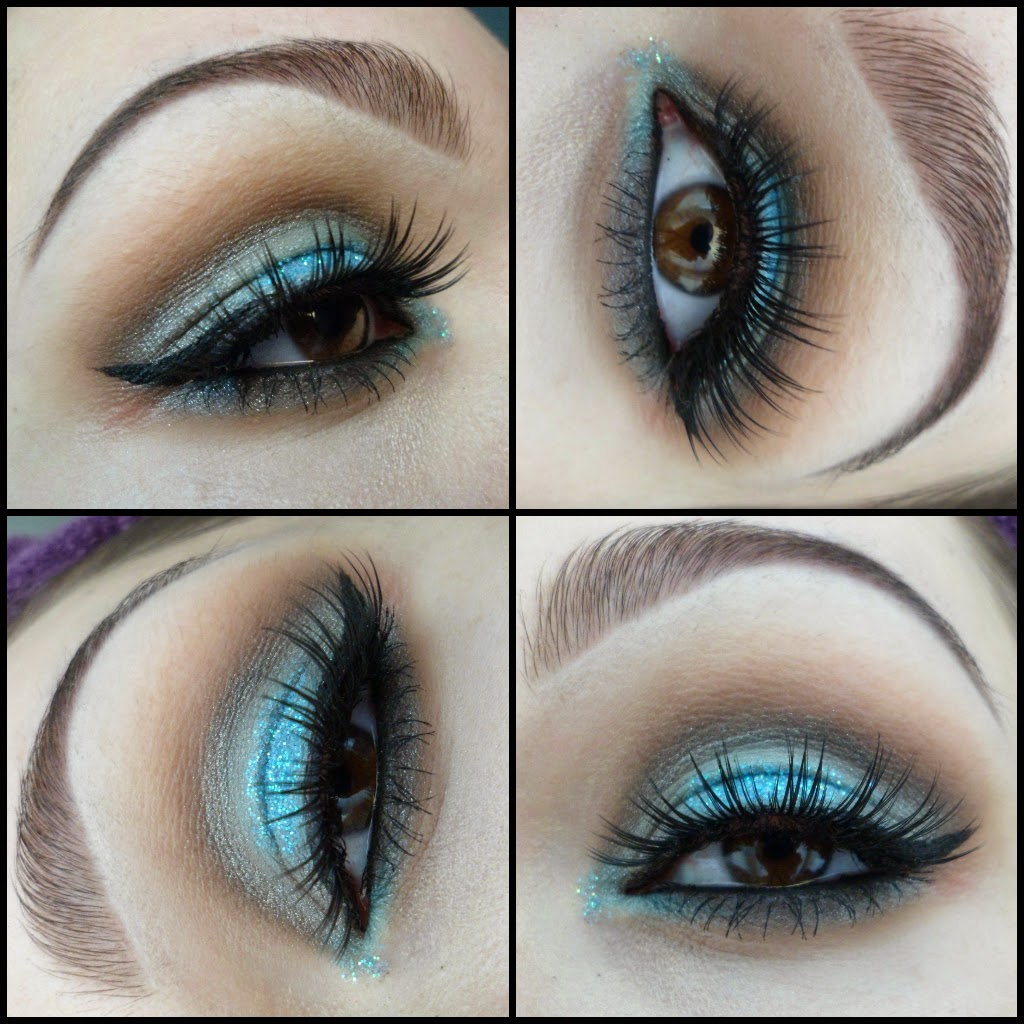Taupe And Blue Glitter Mermaid Eyes Tutorial Makeup By Briony