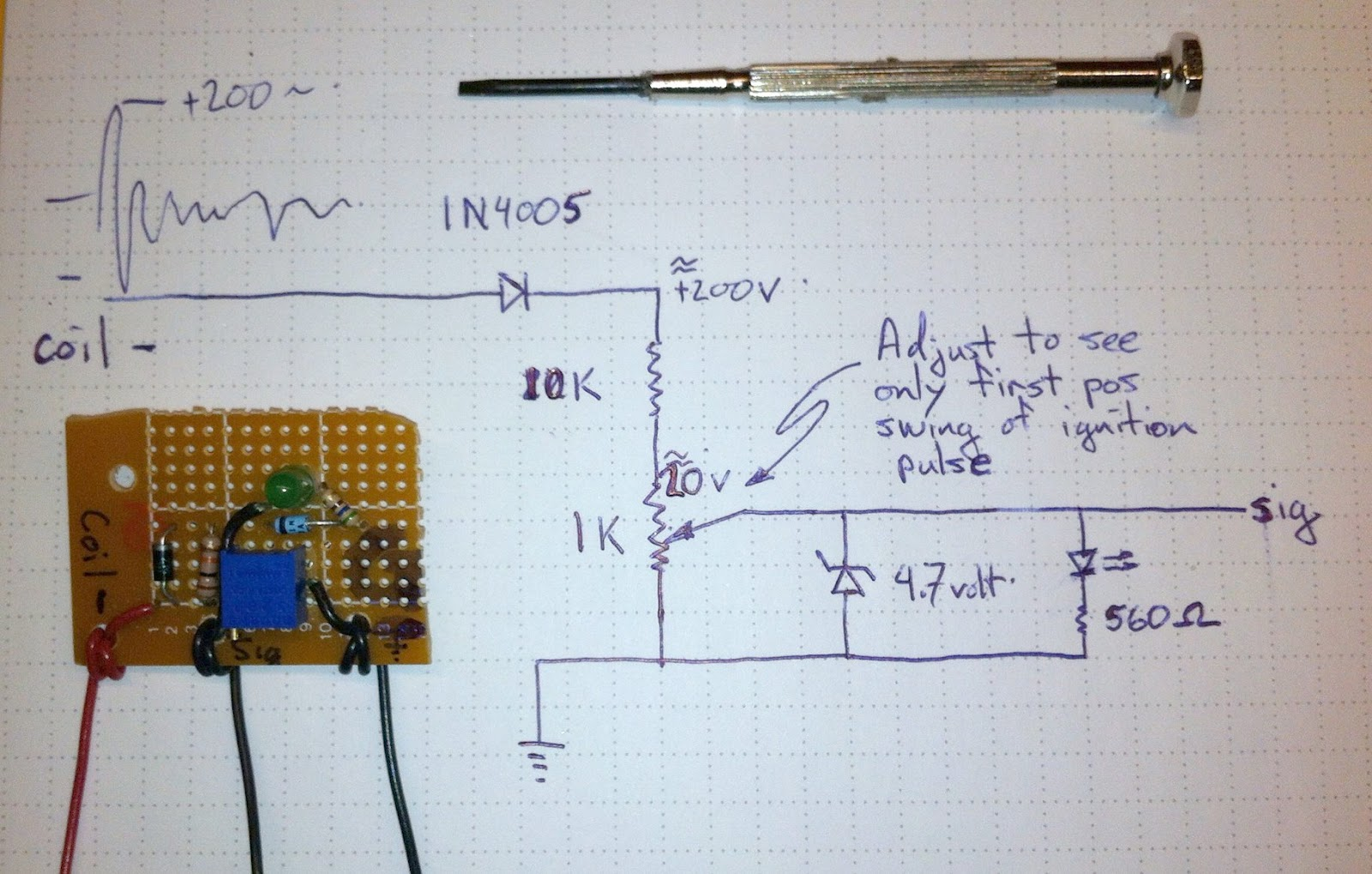 With help from http://www.arduino.cc/cgi-bin/yabb2/YaBB.pl?num=1262397180 I  came up with this circuit to produce countable pulses.