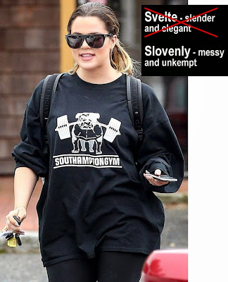 khloe kardashian svelte hot fat mess