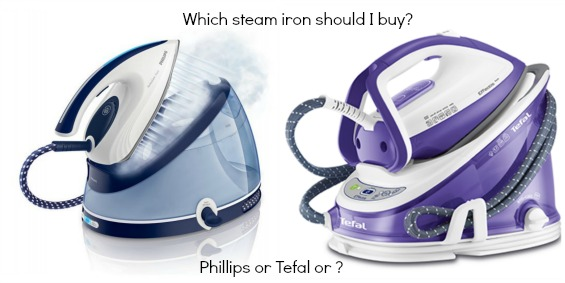 Tefal and Phillips steam station iron www.loweryourpresserfoot.blogspot.com
