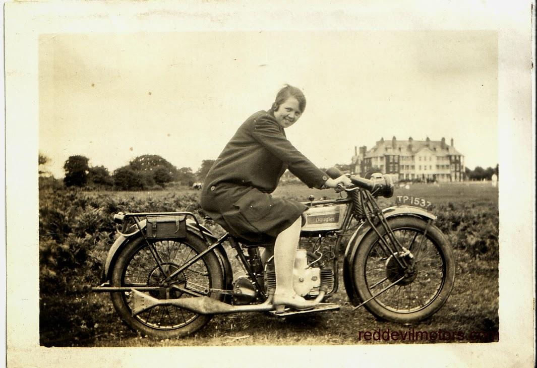 Douglas EW 350 600 vintage flat tank motorcycle