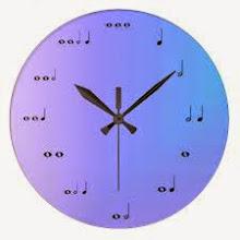 Reloj para recordar la duración de las figuras musicales