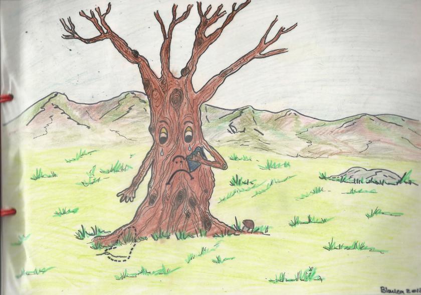 árboles Secos Animados un árbol Seco y Sin Hojas