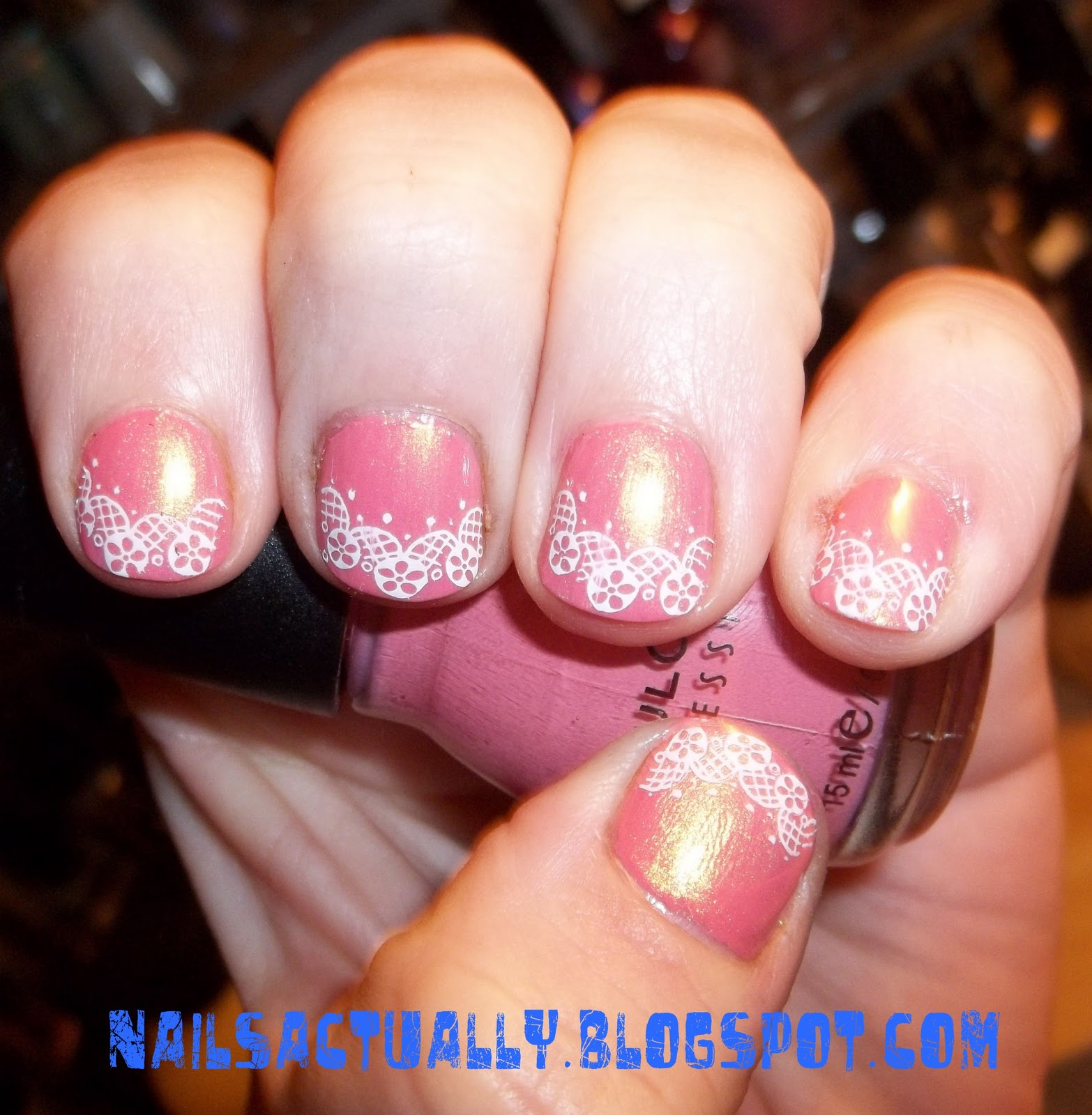 Nails Actually: Year of Polish Challenge: Lace French Tip Manicure