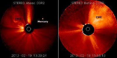 Eyección de masa coronal 19 de Febrero de 2013