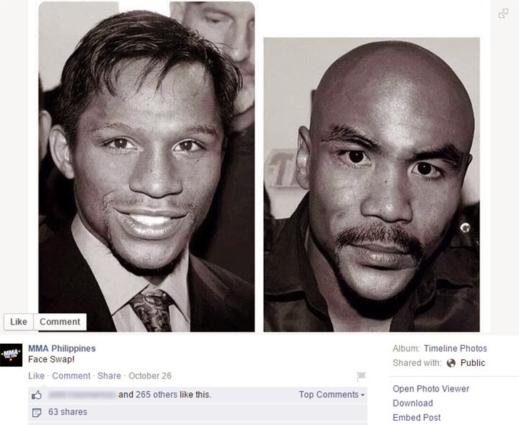 Pacquiao Mayweather Face Swap