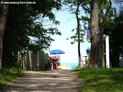 Weg zum Strand an die Ostsee