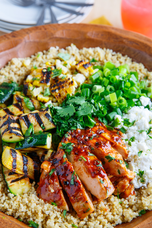 Grilled BBQ Chicken, Zucchini and Corn Quinoa Salad on Closet Cooking
