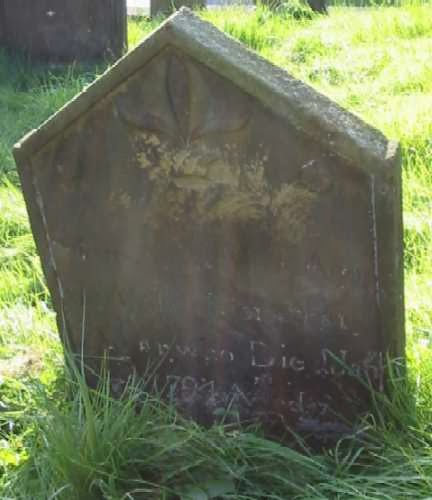 Headstone of Mary Agar, 1794, Gillamoor, Yorkshire
