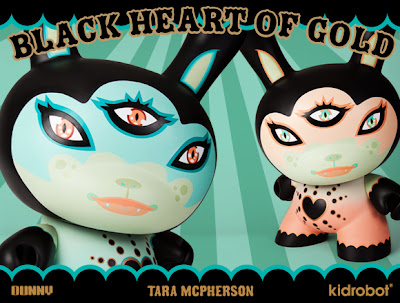 "Kidrobot - Black Heart Of Gold 20"" Dunny by Tara McPherson"
