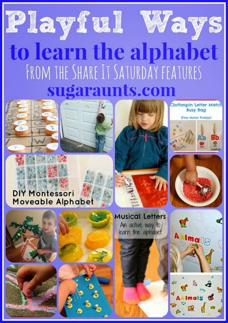 Playful Ways to Learn the Alphabet by Sugar Aunts