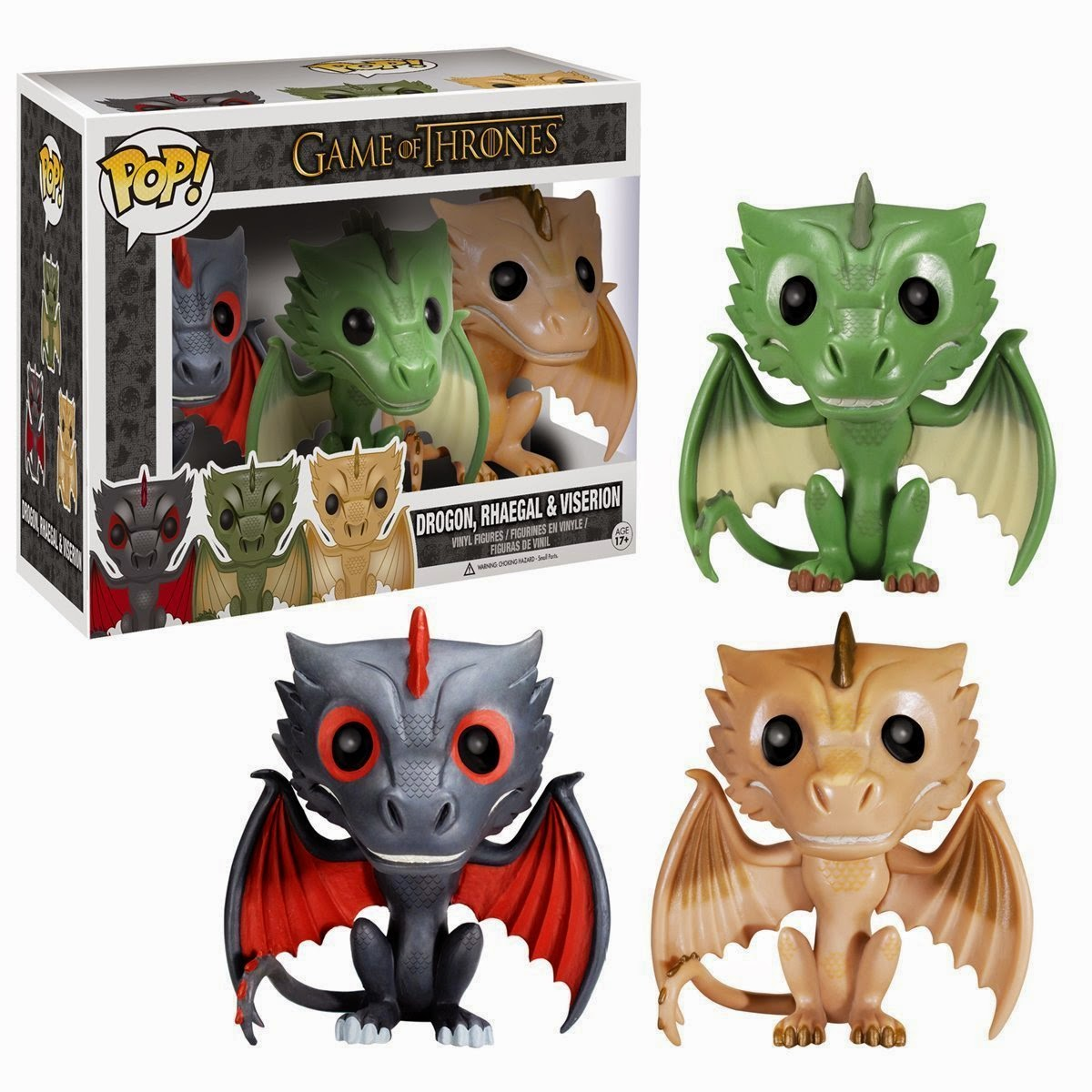 Funko Pop! Drogon, Rhaegal, and Viserion 3-Pack (HBO Exclusive)