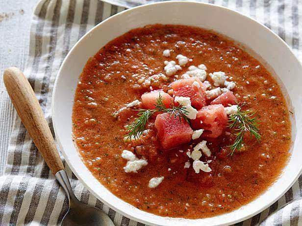 watermelon gazpacho recipe from Tyler Florence