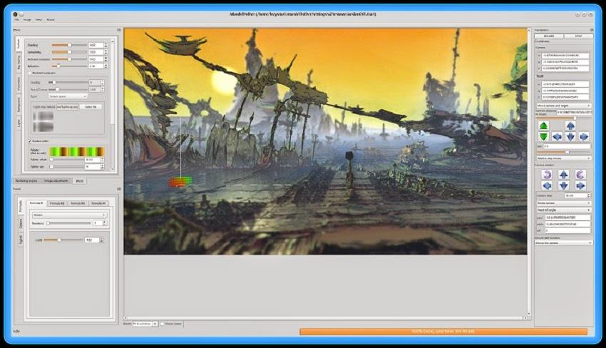 برنامج مجاني لأنشاء صور ورسوم متحركة ثلاثية الأبعاد لويندوز ولينكس وماك Mandelbulber 3D 2.02